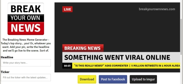 Break News Blank