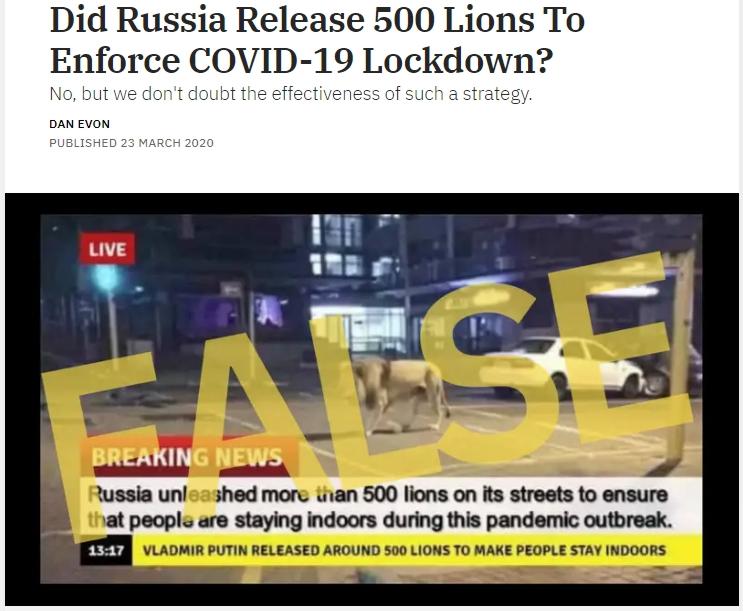 Lions False